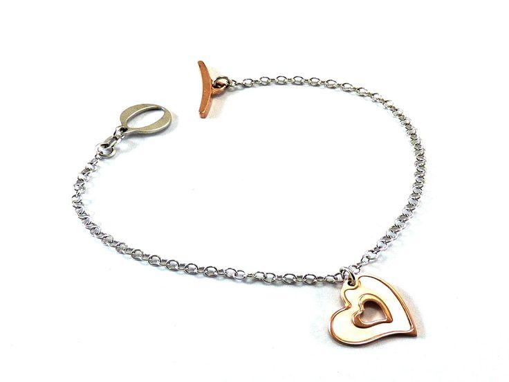 Bracciale in argento 925 con cuore smaltato. Maggiori informazioni WWW:LCGORI:COM
