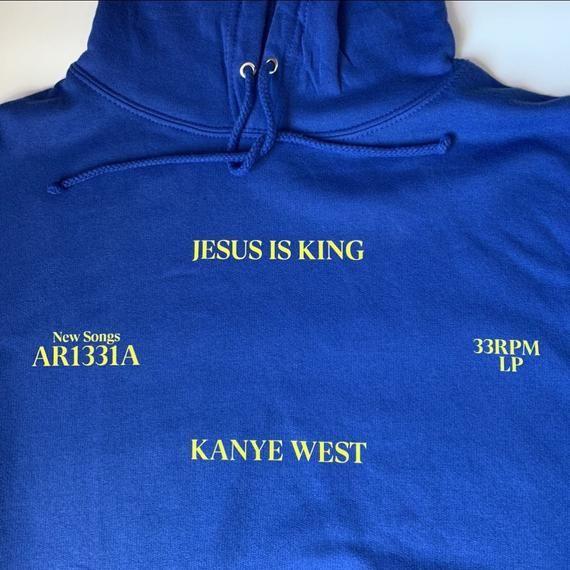 Kanye West Jesus Is King Hoodie Merch Etsy In 2020 Hoodies Kanye West Fleece Hoodie