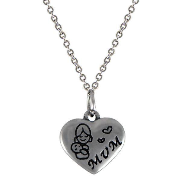 NH3288OC Srdce náhrdelník z chirurgickej ocele : Šperky Swarovski, SuperSperky.sk