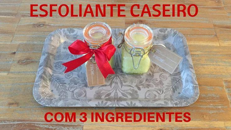 Esfoliaste Caseiro 3 ingredientes - Dicas de lembranças de Natal | Vídeo...