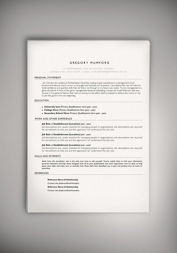 The Apprentice (PSD + WORD DOC)