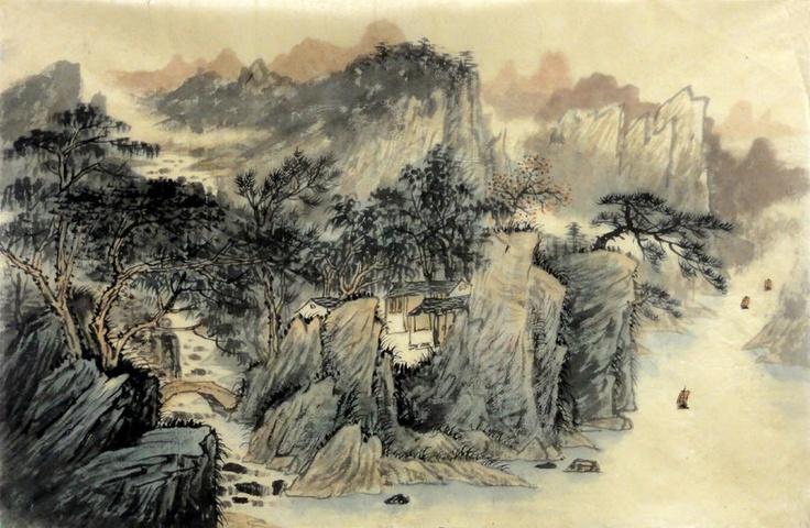 chinese art mountains - photo #9