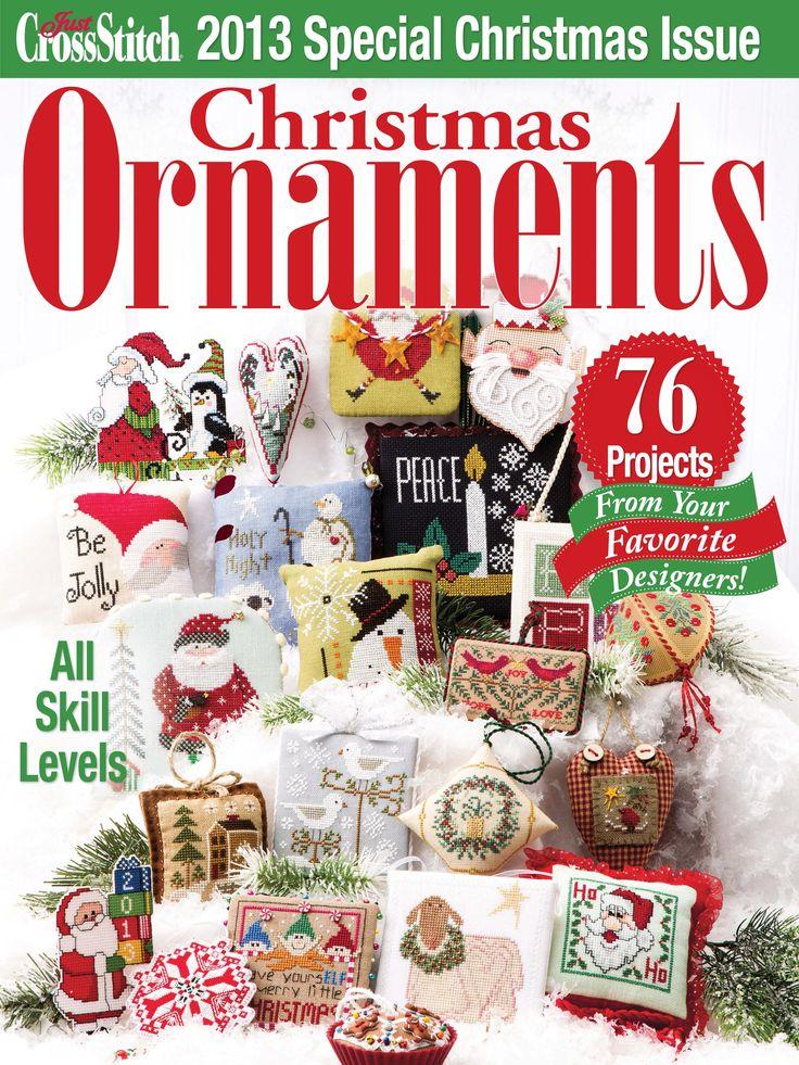 JUST CROSS STITCH CHRISTMAS ORNAMENTS 2013
