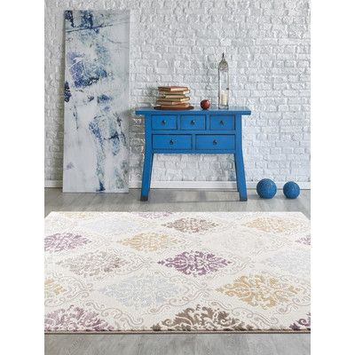 Persian-rugs Tobis Cream Area Rug Rug Size: 8' x 10'