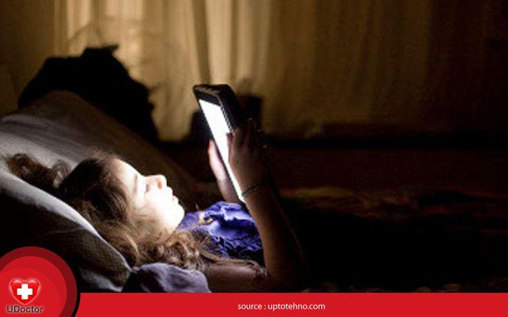 Anak yg bermain gadget saat sblm tidur memiliki waktu tidur lebih sedikit dibanding anak lainnya. #UDoctorFacts