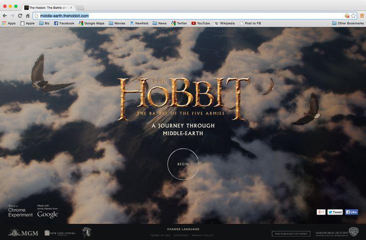 La Terre du Milieu dans Google Chrome