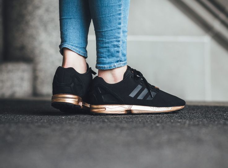 best loved 29649 1b34b adidas originals zx flux black and copper gold rose womens girls bronze