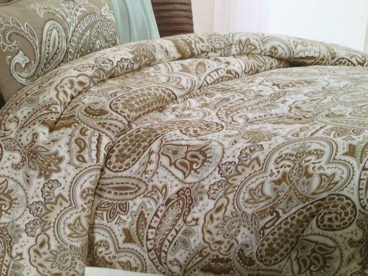 Blue And Brown Paisley Bedding Bella Lux Paisley Blue