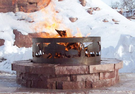 Steel Fire Pit  Customizable by Momadic on Etsy