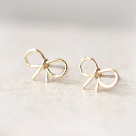 cute bow earrings  $15 from laonato on etsy