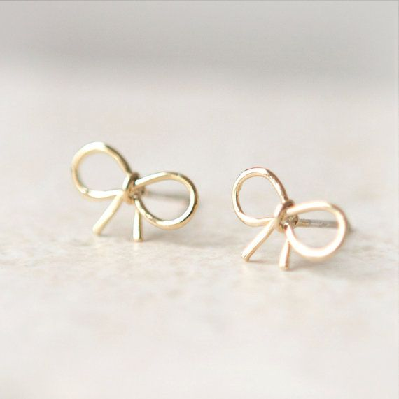 Laonato little bow earrings - one of the many cute designs! etsy.com/shop/laonato