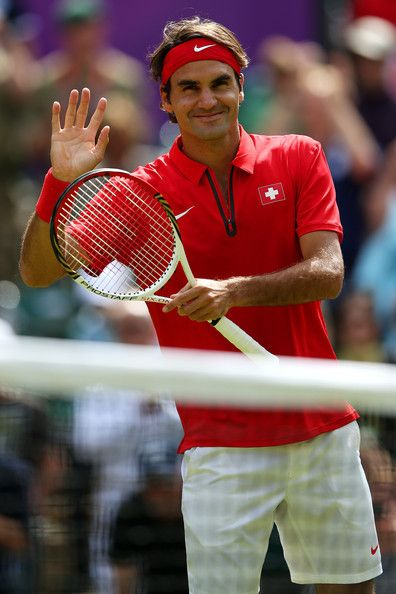Roger Federer Photo - Olympics Day 3 - Tennis