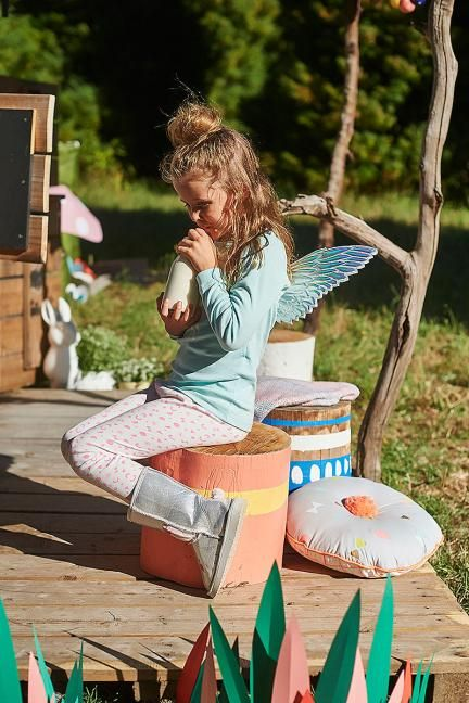 What better to paint then tree stumps? Not only are they super easy but also are a fun DIY to do with your little one.