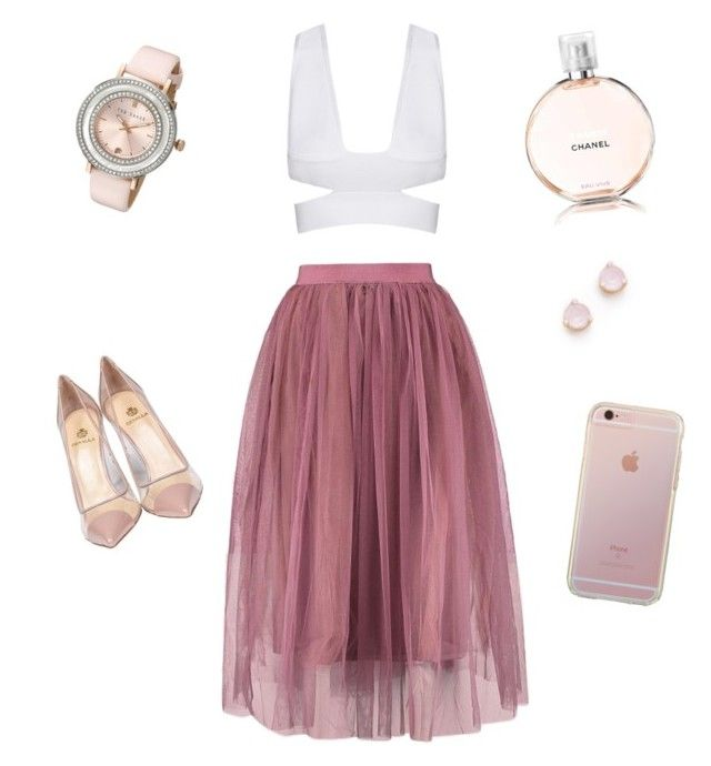 """#RomanticChic! #Fashion #Pink"" by kareenleon on Polyvore featuring Semilla, Chanel, Ted Baker and Kate Spade"