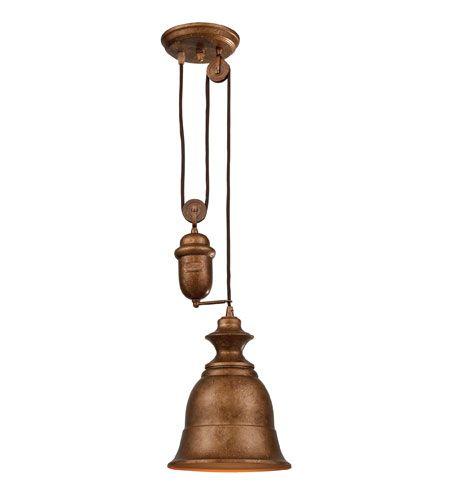 ELK Lighting Farmhouse 1 Light Pendant in Bellwether Copper 65060-1 #lighting