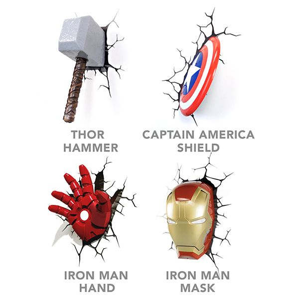 These 3D Deco Superhero Wall Lights will help you see in the dark. Just place them wherever you need a little more light at night (they're battery powered, so no need to look for an outlet), and they'll provide a super glow.