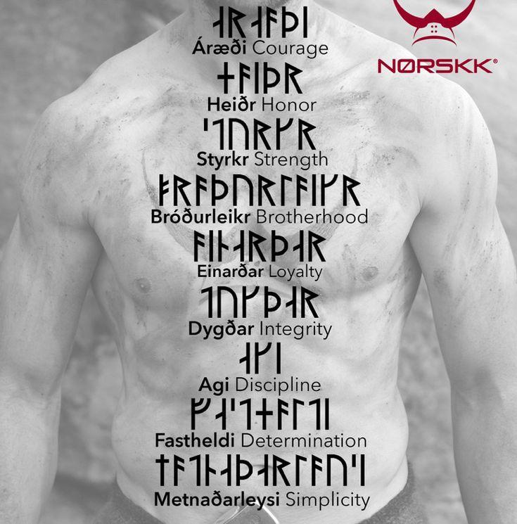 Wikinger Symbole, nordische Runen und ihre Bedeutung als Tattoos