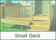 Small Wooden Deck Idea | Outdoor Deck Designs Plans Pictures & Designer Software