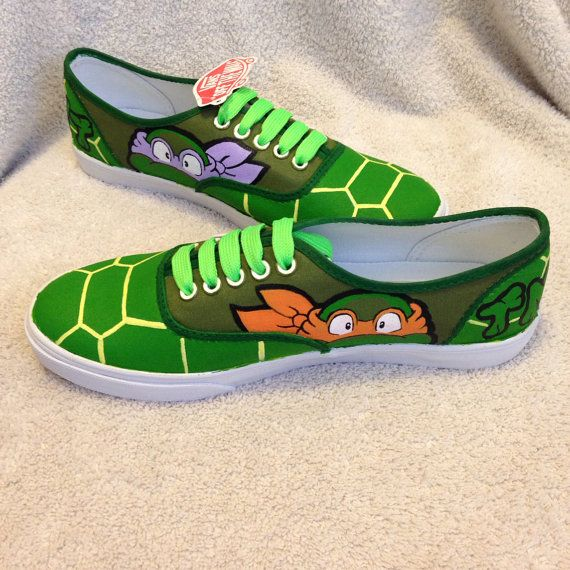 TMNT Shell Shocked custom Vans by KivadenoCustoms on Etsy