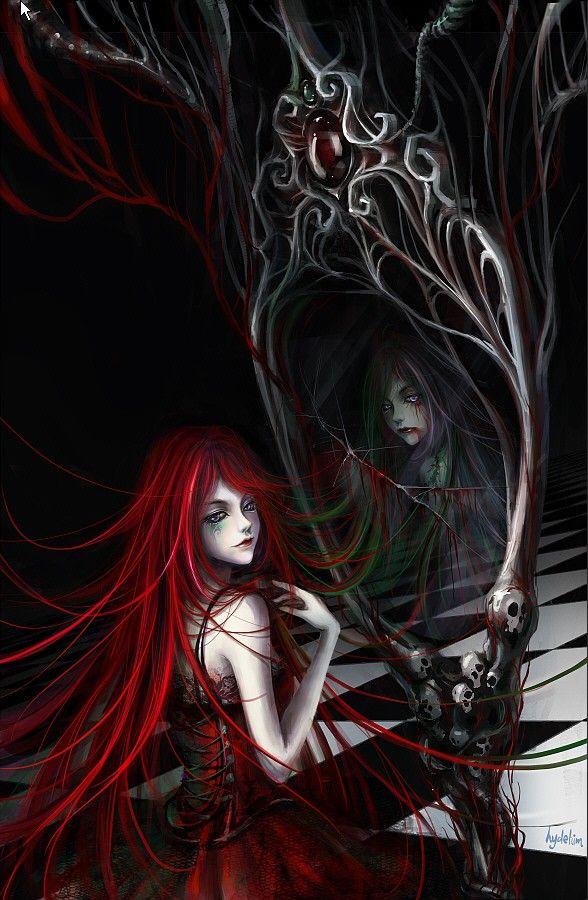 220 best gothic art images on pinterest belly dance - Dark anime girl pics ...