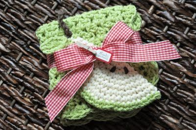 Crochet Pattern - How to Crochet Apple Tawashi Dishcloth