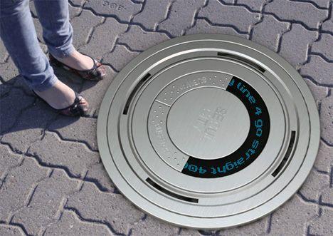 Futuristic Manhole Cover