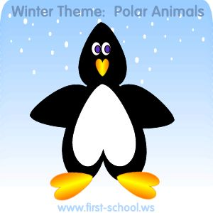 Free polar theme [Arctic and Antarctica]  winter animals printable activities & crafts for toddlers, preschool, kindergarten to 2nd grade.