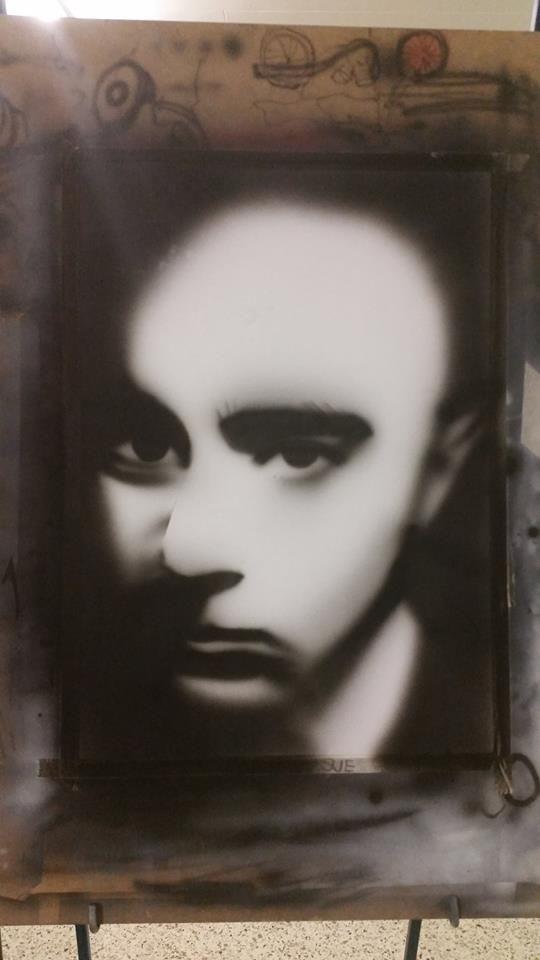 my first airbrush portrait