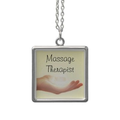 Massage Therapist Necklace with Hand from http://www.zazzle.com/massage+therapist+necklaces