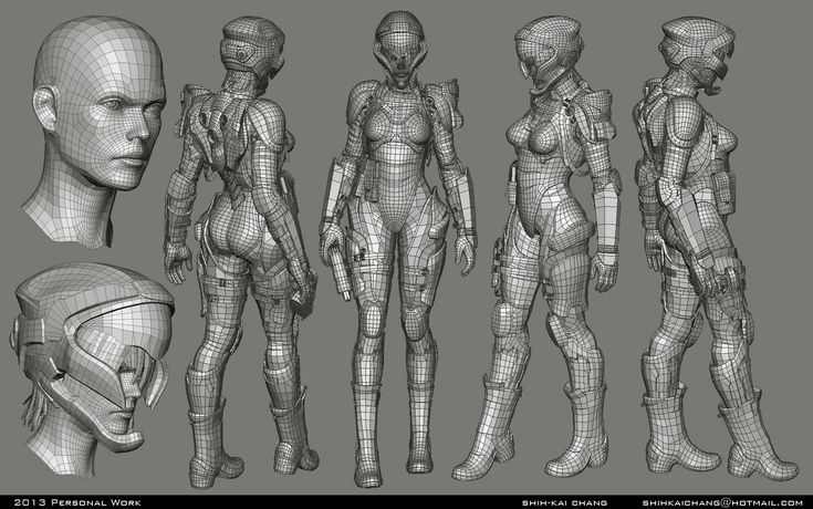 3d woman model wireframe - Google 検索