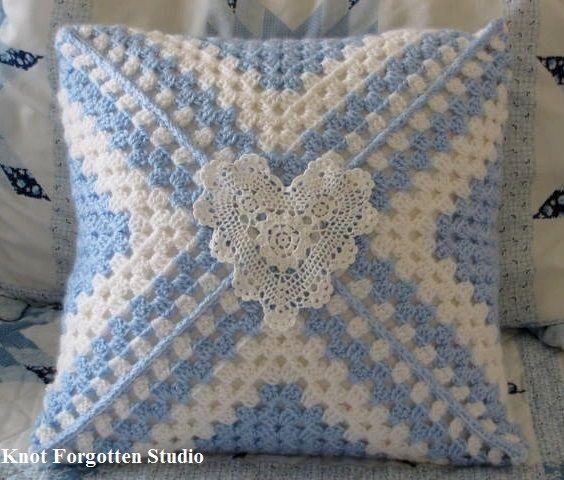 Big Granny Square Pillow