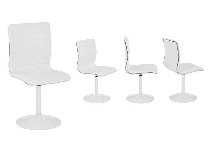 impressionnant  chaise simili cuir blanc pas cher