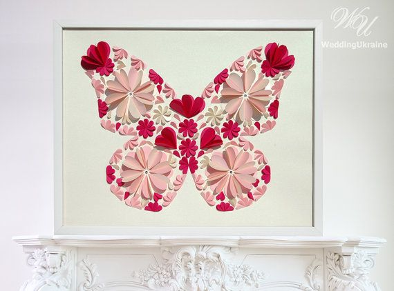 Butterfly Guest Book Ideas  Wedding Guest Book by WeddingUkraine