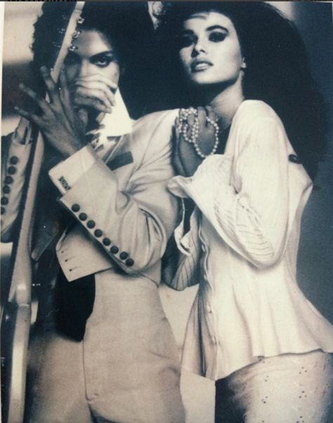 Very rare picture of Prince and Carmen Electra 1991.