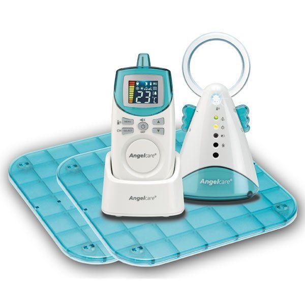 Angel Care Monitor Oddechu + Niania AC401 2 płytki | MALL.PL