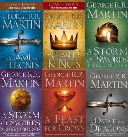 A Song Of Ice And Fire series | George R. R. Martin. Making my way through these right now. Just finished a Storm of Swo
