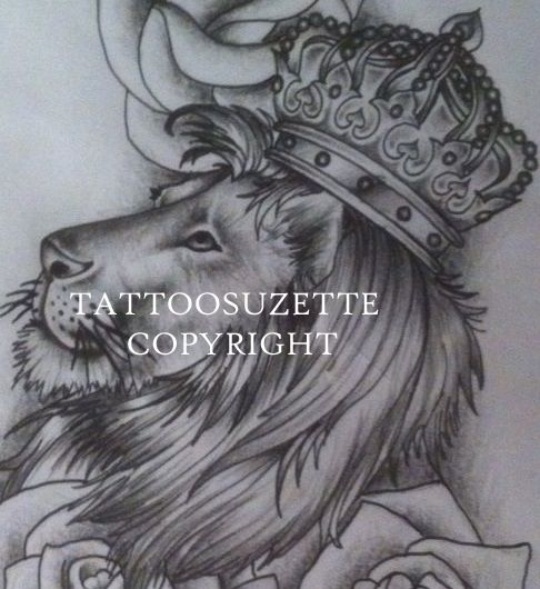 Lion With Crown Wallpaper Lion With Crown Tattoo Design