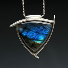Sterling Silver and Labradorite Necklace by TownHallStudio on Etsy