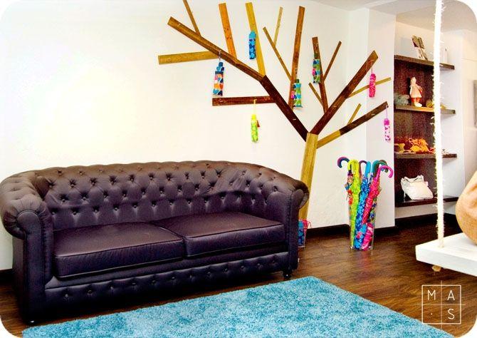 Decoracion En Paredes Interiores ~ En nuestro proyecto para la tienda Morenam?a, el contraste entre