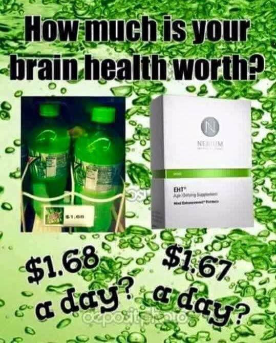 EHT is the ONLY patented brain health supplement. Get yours now! Susansmitley.nerium.com