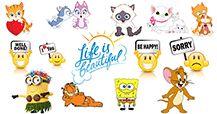 Vind verbazingwekkend emoticons zoals grappige acroniemen, citaten, beroemdheden, groeten, en nog veel meer!