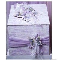 Χειροποίητο Ξύλινο Κουτί Βάπτισης Πεταλούδα. Δίχρωμο κουτί βάπτισης - λευκό -λιλά με θέμα την πεταλούδα. #κουτί_βάπτισης_πεταλούδα #χειροποίητο_κουτί_βάπτισης_πεταλούδα