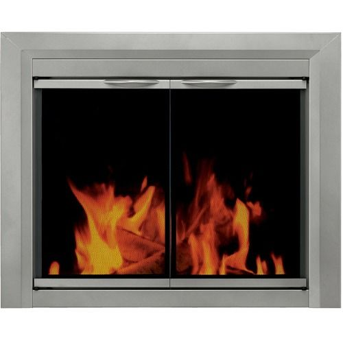 Pleasant Hearth Nickel Cabinet Style Fireplace Glass Door Options Fashionable, cosmetic Pleasant Hearth fireplace glass door is designed to enhance one's conventional masonry fireplace hearth, while at exactly the same time, helping lessen heat or cool air loss up the chimney by as much as 90 percent Fireplace door surface mounts outside the fireplace opening Cupboard style doors open a full 180 degrees and attribute easy catch magnets Smoked 3/16 Inch security tempered glass Solid 1-piece…