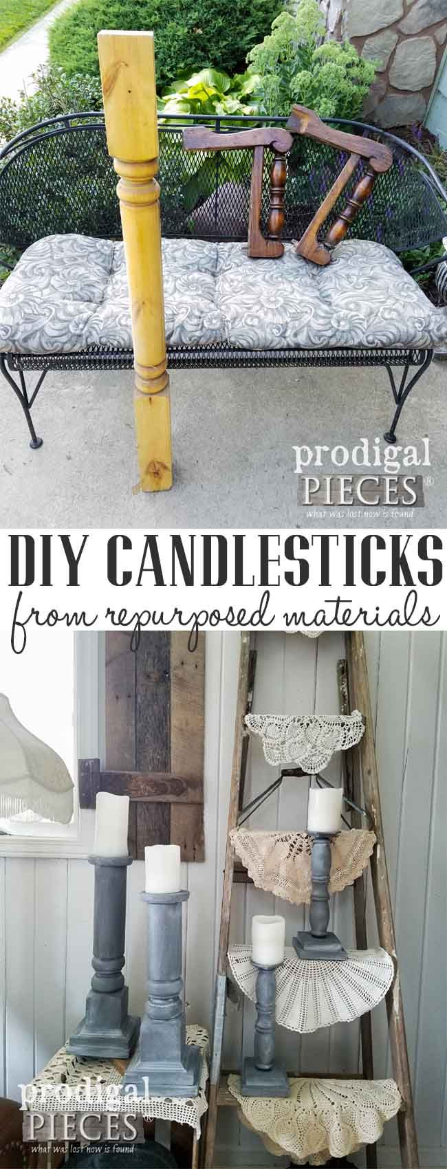 Create these DIY candlesticks using repurposed materials and this tutorial by Prodigal Pieces | prodigalpieces.com