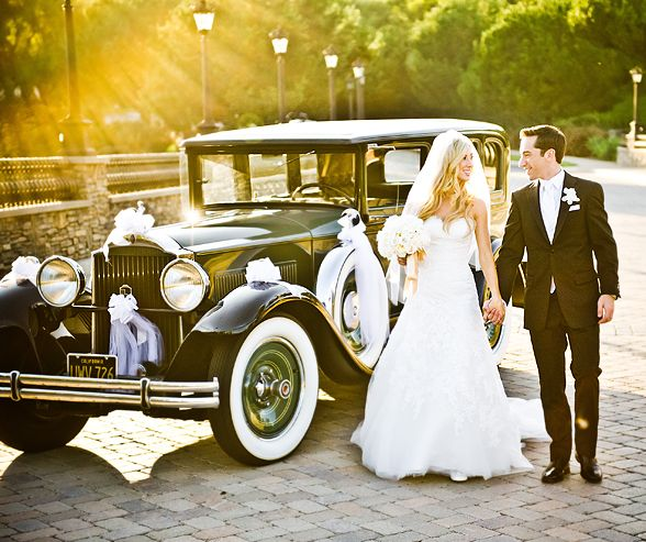 "Beyond the limousine: 7 other ways to enter & exit your wedding. Why not get whisked away after you say ""I Do"" in a vintage Ford?"