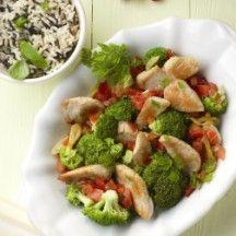 Weight Watchers - Kalkoenreepjes met groenten en rijst - 11pt