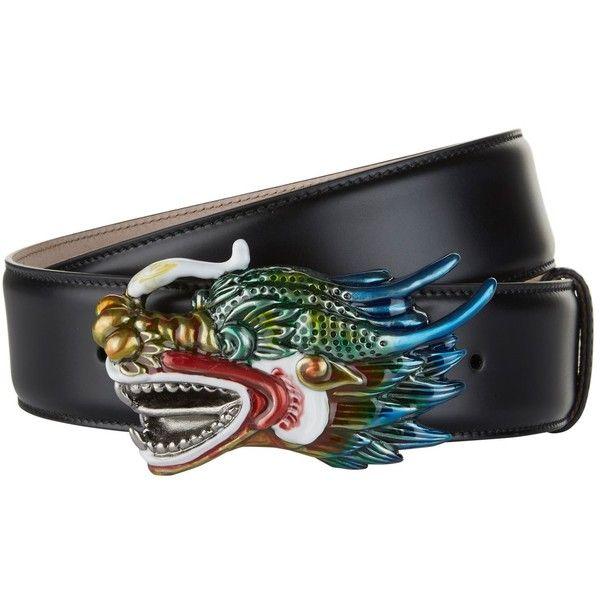 Gucci Dragon Head Belt ($620) ❤ liked on Polyvore featuring accessories, belts, calfskin belt, gucci, wide belt, buckle belt and gucci belt