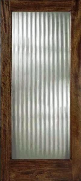 Reeded glass interior doors