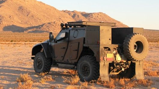 Two diesel-electric hybrid LCV concept vehicles entered by Oshkosh Corporation in the Baja 1000 mile desert race which starts today, could be a glimpse of the future of off-road speed and endurance.