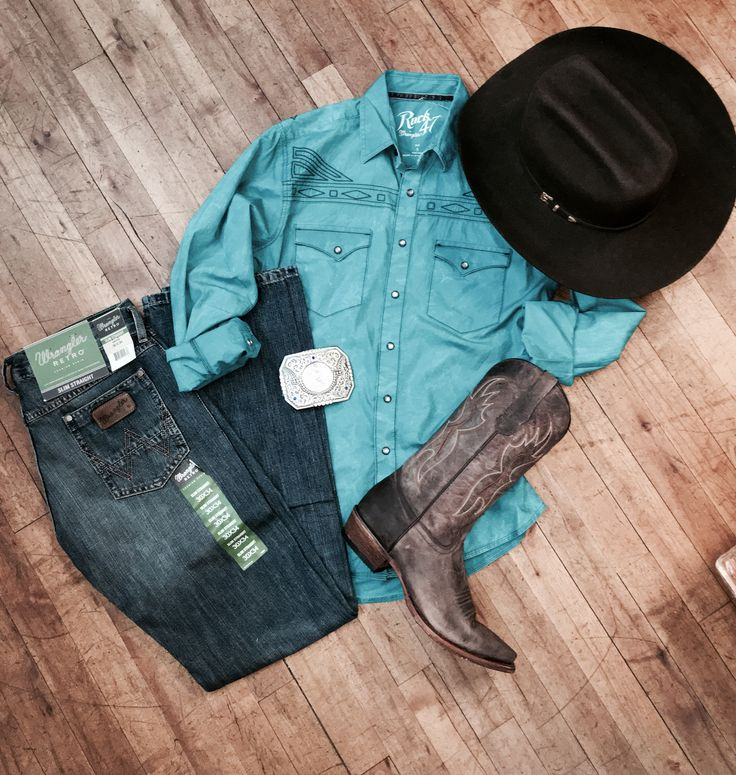 Men's western outfit paired with Circle-G western boots #westernboots #menswesternoutfit